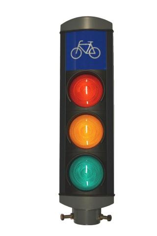 42V Cykellykta täkt topp,rörfäste (Rektangulär cykelsymbol)