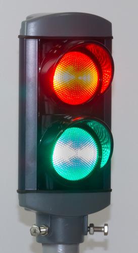 ALUSTAR 2-sken 100 mm Röd/Grön