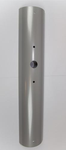 Stolplucka för aluminiumstolpe med hål för tryckknapp
