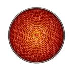LED-enhet röd 100mm 230VAC