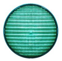 LED-enhet Grön 200mm LED 42VAC